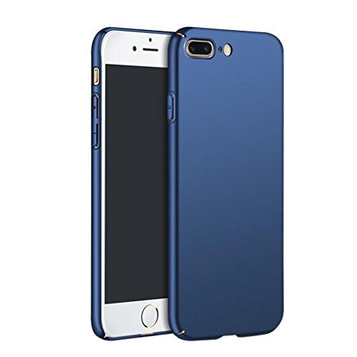 Ouneed® Für iPhone 8 plus 5.5 Zoll Hülle , Luxus Anti-Scratch Hochwertigem Hülle Fein Matt Stoßfest Schutz Hard Case Cover für iPhone 8 plus 5.5 Zoll (Rot) Blau