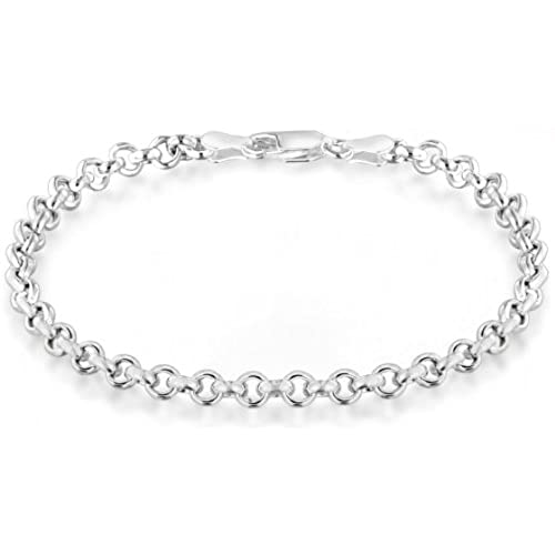 Tuscany Silver Women's Sterling Silver Belcher and Heart Charm Bracelet of Length 19 cm/7.5 Inch 8.24.6602 tyxLuPCwP