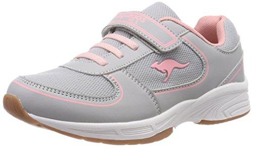 KangaROOS Unisex-Kinder Sinu EV Sneaker, Grau (Vapor Grey/Frost Pink), 36 EU