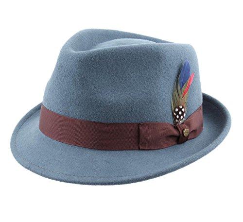 Stetson - Chapeau Trilby imperméable Feutre - 3 Coloris - Homme ou Femme Richmond