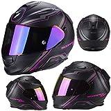 Scorpion Casco Moto exo-510 Air Sync, Matt black/pink, talla XXS