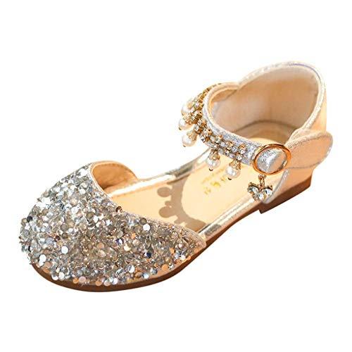 CixNy Tanzschuhe Kleinkind Sommer Mädchen Kinderschuhe Schuhe Einzelne Schuhe Weich Unterseite Perle Und Kristall Lederschuhe Lauflernschuhe Mädchen Prinzessin Shoes
