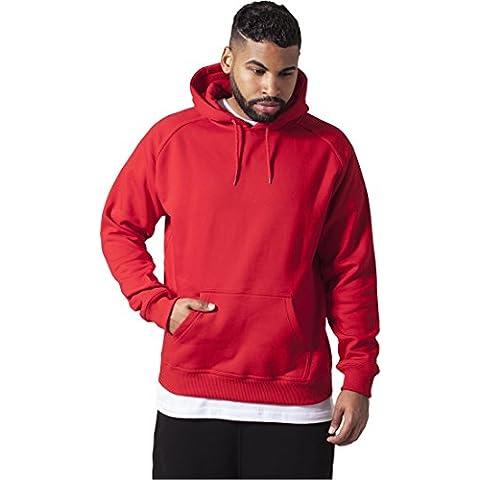 Blank Hoody Urban Classics Streetwear Sudadera Con Capucha Para Hombre, rojo, XL