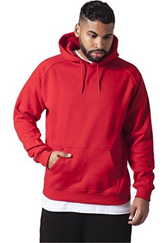 Blank Hoody Urban Classics Streetwear Sudadera Con Capucha Para Hombre, rojo, 4XL