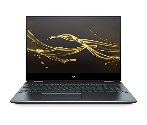 HP Spectre x360 15-df0106ng (15,6 Zoll/ UHD Touchscreen) Convertible Laptop (Intel Core i7-8565U quad, 16GB DDR RAM, 512GB SSD, NVIDIA GeForce MX510, Windows 10 Home) Poseidon Blue
