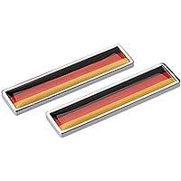 1paio Mini Germania Bandiera corpo Auto Stemma Adesivo Parafango per VW Volkswagen BMW