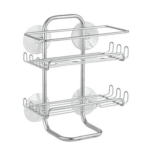 interdesign-classico-suction-bathroom-shower-caddy-shelves-for-shampoo-conditioner-soap-chrome