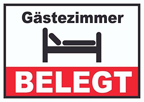 Gästezimmer BELEGT Schild Zimmer BELEGT Hotel Pension Motel A4 (210x297mm)
