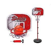 لعبة رياضية للاولاد بتصميم حامل لحلقة كرة السلة للاطفال - منصة كرة سلة صغيرة قابلة للتعديل لممارسة النشاطات الرياضية داخل المنزل او للعب والمرح في الاماكن الخارجية