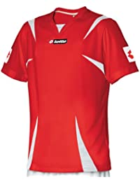 Lotto Camiseta para Hombre Magma Pro, Rojo/Blanco, Color Red - Red,