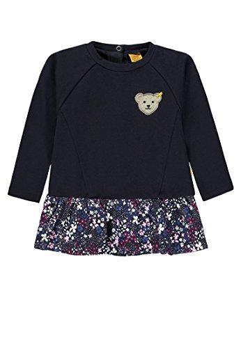 Steiff Mädchen Sweathirt 1/1 Arm Sweatshirt, Blau (Marine Blue 3032), 116