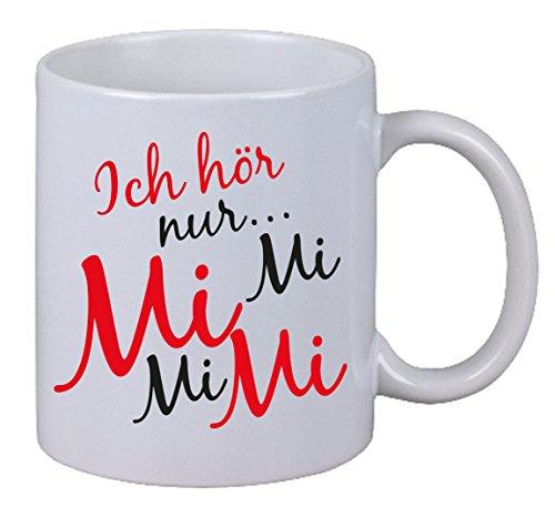 """Preisvergleich Produktbild Kaffee Tasse """"Ich Hör Nur Mi Mi Mi""""Geschenk Weihnachten XMas Rot Schwarz Edition"""