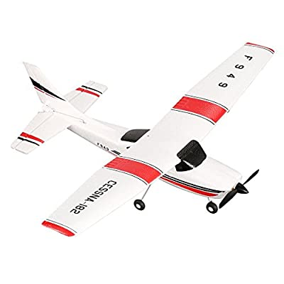 Gugutogo WLtoys F949 3CH 2.4GHz RC Airplane Fixed Wing RTF CESSNA-182 Plane Drone Toy from Gugutogo