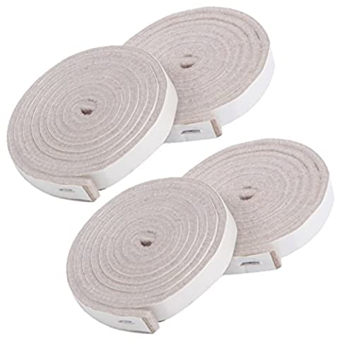SIMALA Premium Furniture Pads - 4 x Heavy Duty Adhesive Self Stick Felt Strip Roll (1/2