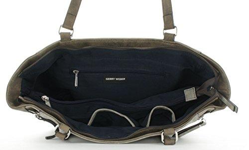 GERRY WEBER Damen Breathe Shopper Lhz Schultertasche, 12.5x27x45 cm Grau (Light Grey)