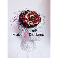 78f9c1394cc74 Tocados Mabel Diademe accesorio pelo mujer niña peina bodas comunion  invitadas madrina arras damas de honor