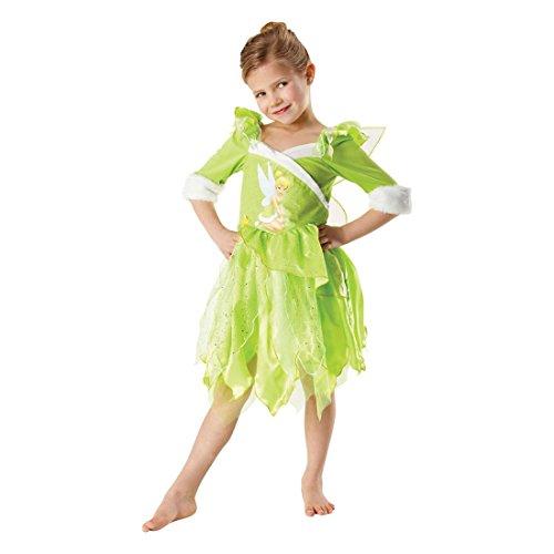 Disney Feenkostüm Tinkerbell Kinderkostüm grün L 7-9 Jahre Tinker Bell Kostüm Glöckchen Feenkostüm Fee Märchenkostüm (Tinkerbell Kostüm 7 8)