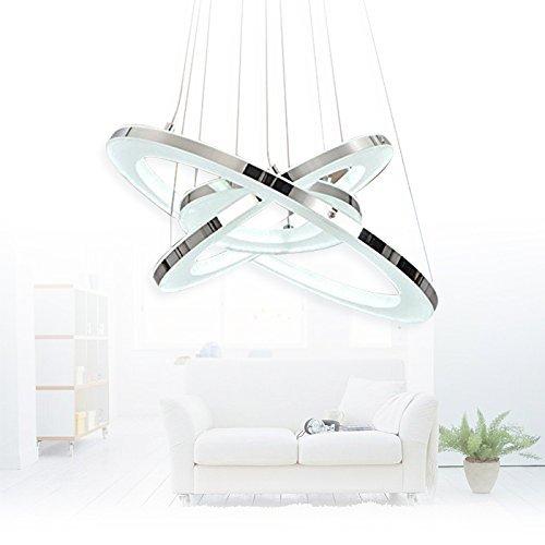 Modernen LED Kronleuchter, 3-Ringe Anhänger LED-Licht Deckenleuchte - 6
