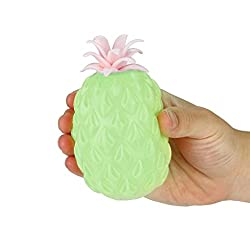 Anglewolf Novelty Simulation Pineapple Squeeze Toy Office Pressure Stress Reliever Toys Personalized Stress Balls Custom Stress Relief Random Cute Kawaii Soft Toy Fidget Gift Decoration(green)