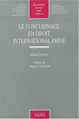 Concubinage en droit international privé