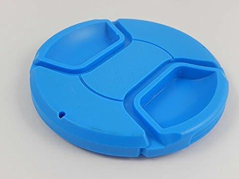 Protège-objectif bleu vhbw 72mm avec griffe intérieure pour objectif d