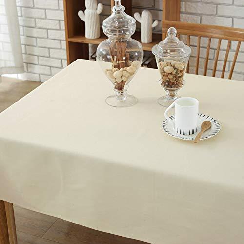 Morbuy Tischdecke Garten, Weihnachten Volltonfarbe abwaschbar Tischtuch Leinentischdecke Pflegeleicht Fleckschutz Farbe & Größe wählbar - Quadratische Weiße Leinen Tischdecke