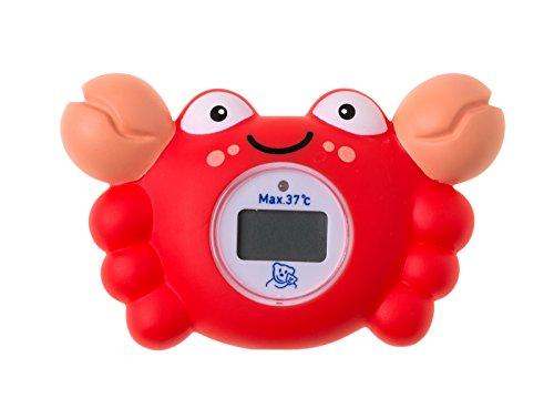 Rotho Babydesign 20439 Badethermometer Krabbe, rot