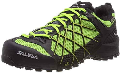 Salewa MS WILDFIRE GTX, Herren Trekking- & Wanderhalbschuhe, Schwarz (Black Out/fluo Yellow 978), 46 EU (11 UK)