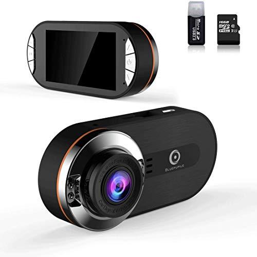 Cámara para salpicadero de Coche, Full HD, 1080P, visión Nocturna, ángulo Amplio de 170 Grados, grabadora de vídeo para conducción de Coche, DVR con Sensor G, grabación en Bucle, Modo de Aparcamiento
