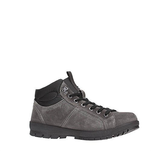 Lumberjack Zermatt uomo, pelle scamosciata, sneaker alta Grigio/Nero