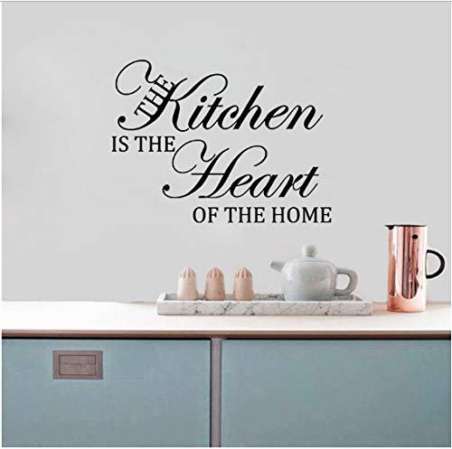 Kitchen ist das Herzstück von Home PVC-Aufkleber Wandkunst Aufkleber 68CM * 50.5CM ()