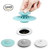 LoiStu Multi-function Drain Stopper, Hair Catcher/Strainer/2 in 1 Stop & Filter for Floor, Laundry, Kitchen and Bathroom