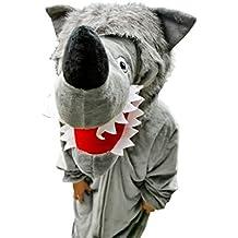 Wolf-Kostüm, F49 Gr. M-XL, Fasnachts-Kostüme Tier-Kostüme, Wolfs-Kostüme Wölfe Kostüme Wolf-Faschingskostüm, Fasching Karneval, Faschings-Kostüme, Geburtstags-Geschenk Erwachsene
