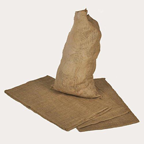Zill Gmbh Sac en toile de jute 60cm x 110cm pour pommes de terre / céréales, contenance 50kg