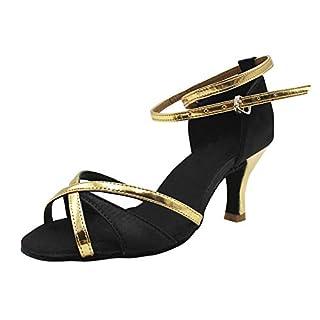 112b815a63f322 uirend Sport Tanzschuhe Schuhe Damen - Mädchen Stain Latein Tanz Schuhe  Ausgestelltes Hoher Absatz Sandalen Standard