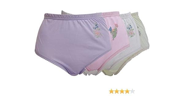 1,2,3 Womens Ladies Marlon full maxi brief cotton blend knicker mix coloure