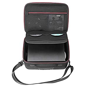 RLSOCO Hartschalenkoffer Tasche für Xbox One X / One S Konsole und Xbox One Controller,  Wireless Kopfhörer, Videospiel DVDs und anderes Zubehör
