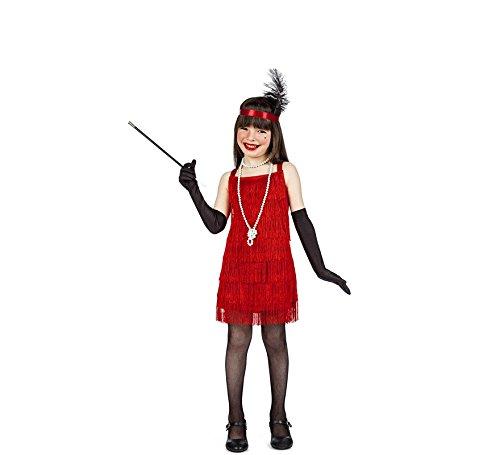 Imagen de disfraz charleston flecos rojo 3 4