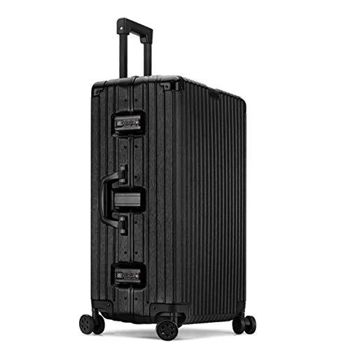 SXXCL Koffer, Kratzfester Koffer, Modekoffer, Teleskopstangenkoffer (Color : Black, Size : 26in)
