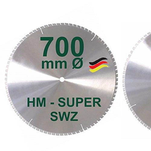 HM Kreissägeblatt 700 x 30 Z= 84 SWZ SUPER nagelfest Sägeblatt 700mm für Bauholz Naturholz Brennholz Hartholz Schalholz Faserplatten Leimholz zum Sägen mit Wippsäge Tischkreissäge Kreissäge Brennholzsäge