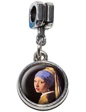 Das Mädchen mit dem Perlenohrgehänge von Vermeer Italienische europäischen Euro-Stil Armband Charm Bead–für...