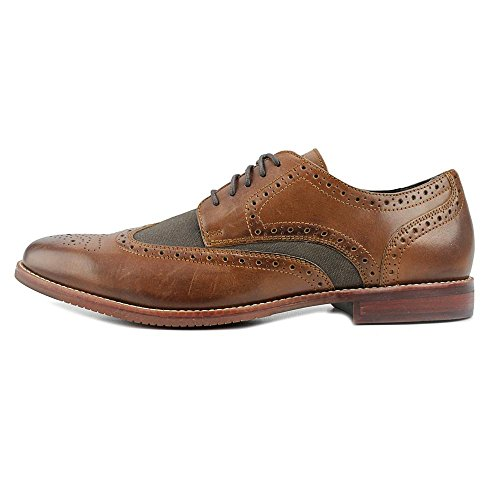 Rockport Wing Tip Rund Leder Schnürschuh Dark Brown