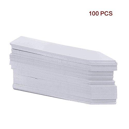 """G2Plus 100Stk. Mini Plastik Pflanzenstecker Stecketiketten Beschriften Pflanzschilder Schilder 10CM * 2CM Sind Praktisch für Alle \""""Gärtner\"""" (Weiß)"""