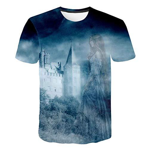 DUANXIUGE 3D Kürbist-Shirt Männer Frauent-Shirt 3D Spitzent-Stück Halloween-T-Shirt Kurzarm