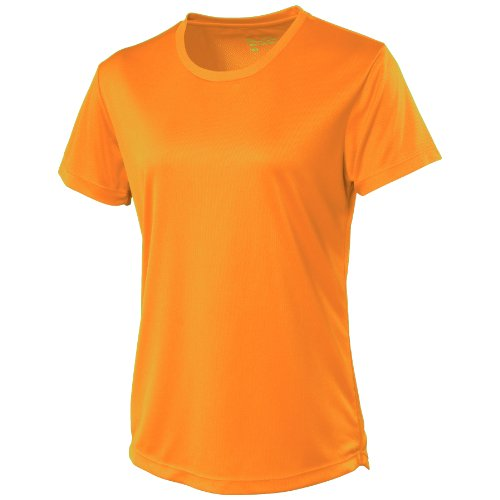Just Cool Damen Sport T-Shirt unifarben Electric Pink
