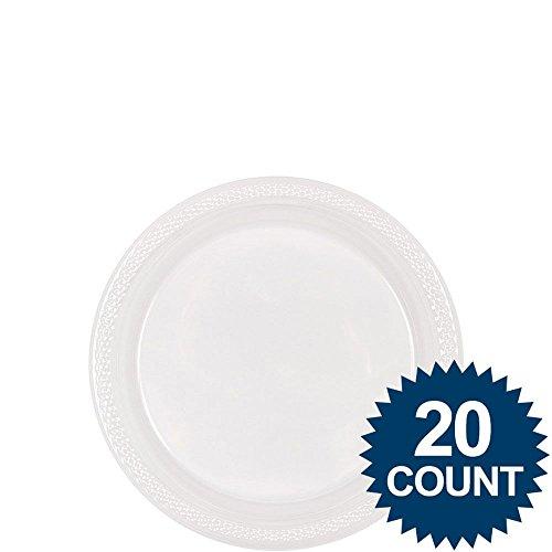 Clear Plastic Plates 18cm /20