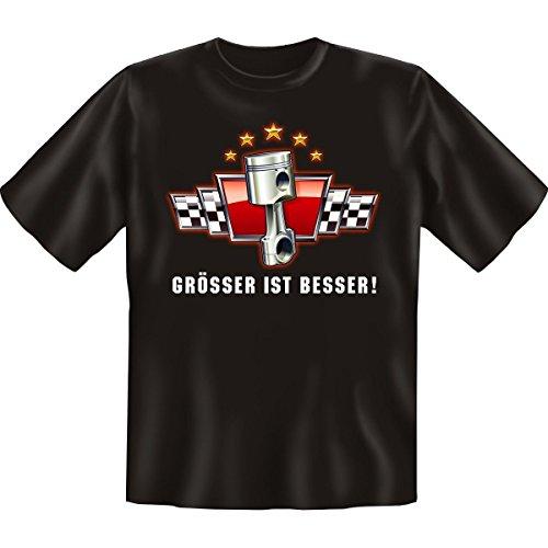 Spass T-Shirt Grösser ist besser Fb schwarz Schwarz