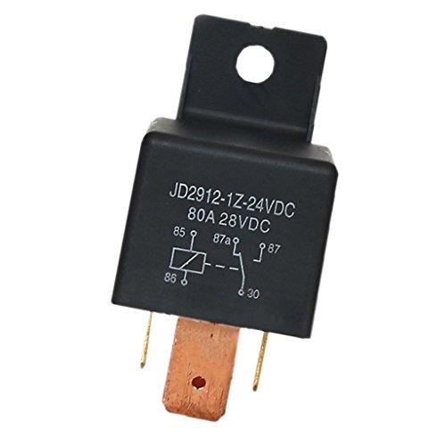 MagiDeal 1Z-24VDC 80A 5-Pin SPDT Relais Schalter Auto Motorrad Automobil Changeover Relay Switch - Schwarz -