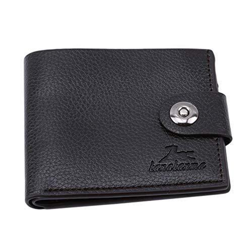 Toporchid Schlanker Leder-Multi-Card-Bit-Packtasche Herrenbrieftasche Creadit-Kartenhalter (Dunkelbraun)