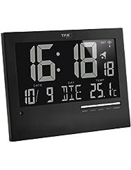 TFA 60.4508 Horloge numérique sans fil avec rétroéclairage automatique (L x l x h) 185 x 230 x 31 mm